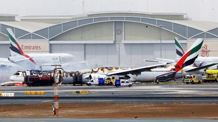 Awaryjne lądowanie samolotu w Dubaju. Samolot stanął w płomieniach