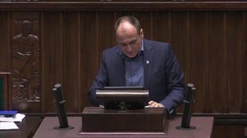 Kukiz w Sejmie o projekcie PiS ws. Kodeksu wyborczego