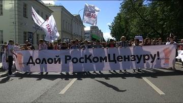 23-07-2017 18:46 Rosja: protest przeciwko cenzurze w sieci. Moskwa chce nałożyć kaganiec i zlikwidować anonimowość