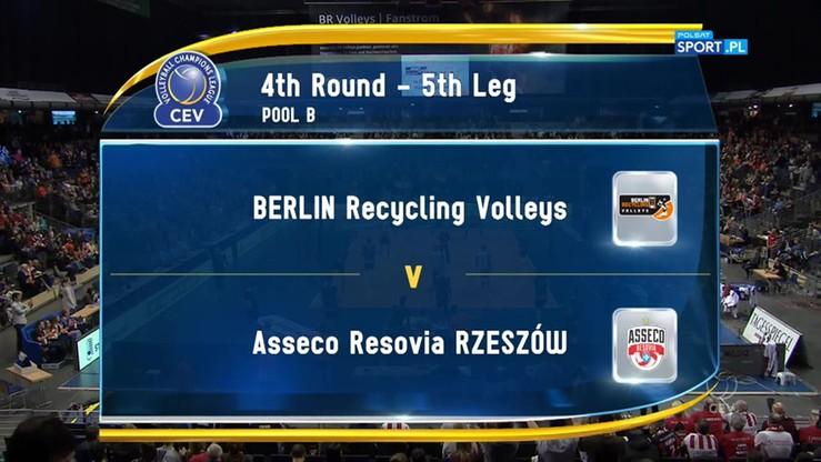 Berlin Recycling Volleys – Asseco Resovia Rzeszów 3:2. SKrót meczu