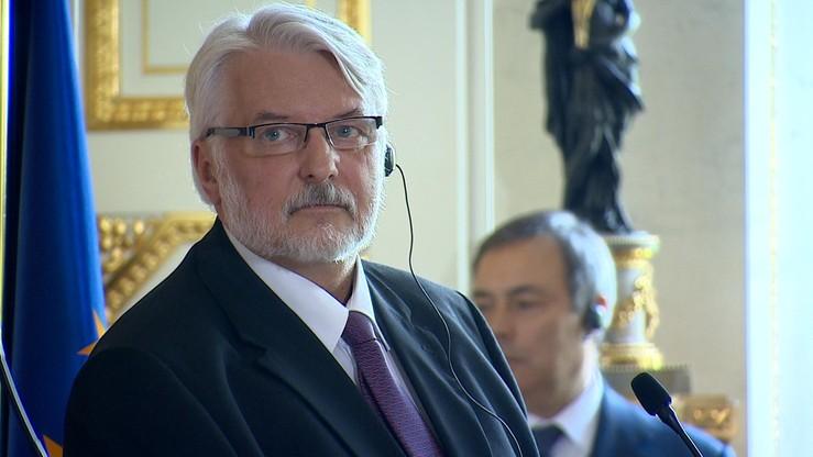 Waszczykowski napisał do Timmermansa. Chodzi o zalecenia Komisji Europejskiej ws. Polski