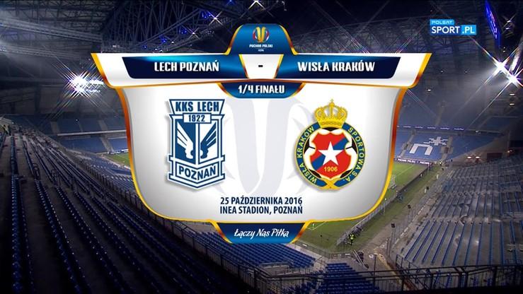 Lech Poznań - Wisła Kraków 1:1. Skrót meczu