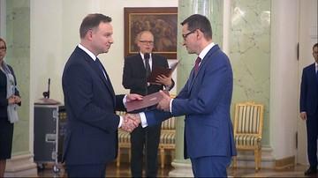 Prezydent przyjął dymisję rządu Beaty Szydło i desygnował na premiera Mateusza Morawieckiego