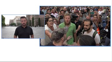 Tomasz Lejman o manifestacjach w Barcelonie
