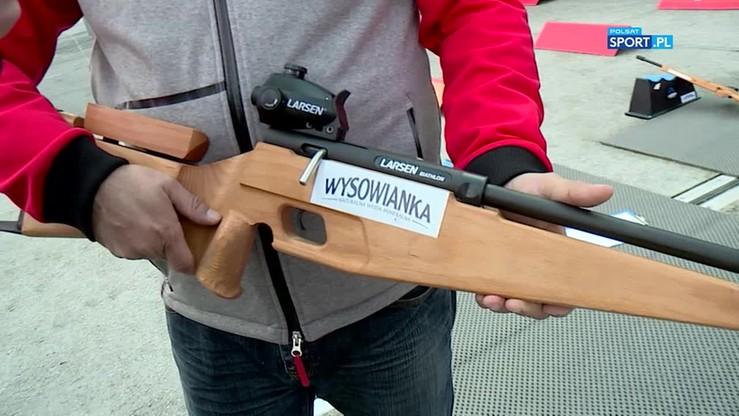 Jak wygląda karabin od biathlonu na rolkach?