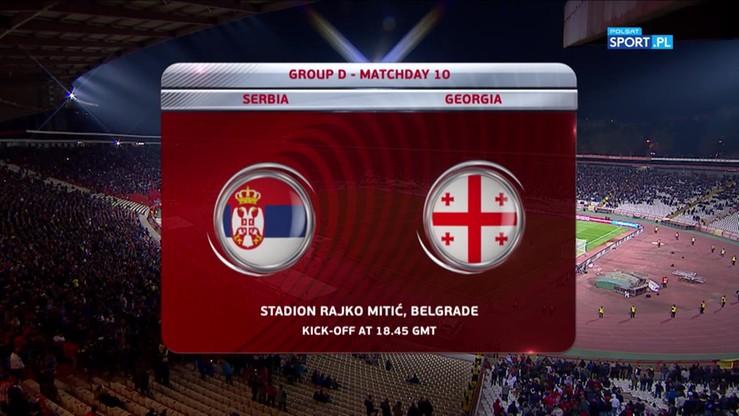 Serbia - Gruzja 1:0. Skrót meczu