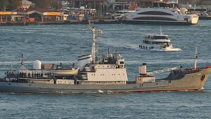 Zatonął rosyjski okręt zwiadowczy. Zderzył się z innym statkiem u wybrzeży Turcji
