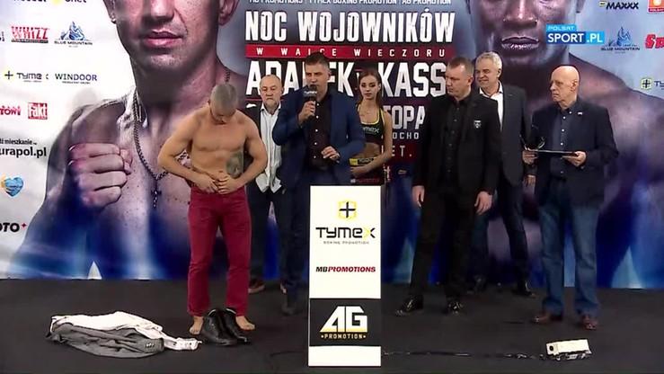 Mateusz Rzadkosz vs Tomasz Gromadzki: Oficjalne ważenie