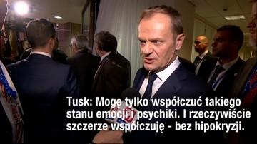 """""""Współczuję stanu emocji i psychiki"""". Tusk o słowach prezesa PiS"""