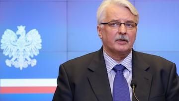"""11-05-2016 13:40 """"Nie do przyjęcia"""" - Waszczykowski o propozycji Komisji Europejskiej ws. uchodźców"""