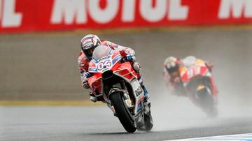 2017-10-15 Motocyklowe MŚ: W Japonii Dovizioso wygrał w deszczu