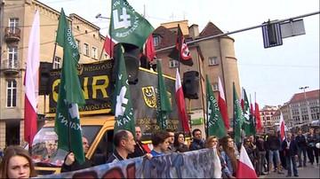 2016-05-01 Narodowcy przeciw Unii Europejskiej. Manifestacje w całej Polsce