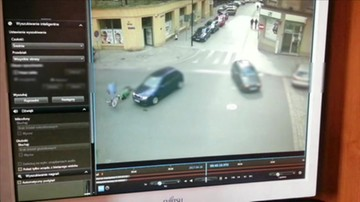 2017-04-25 Rowerzysta jechał pod prąd i wpadł pod samochód
