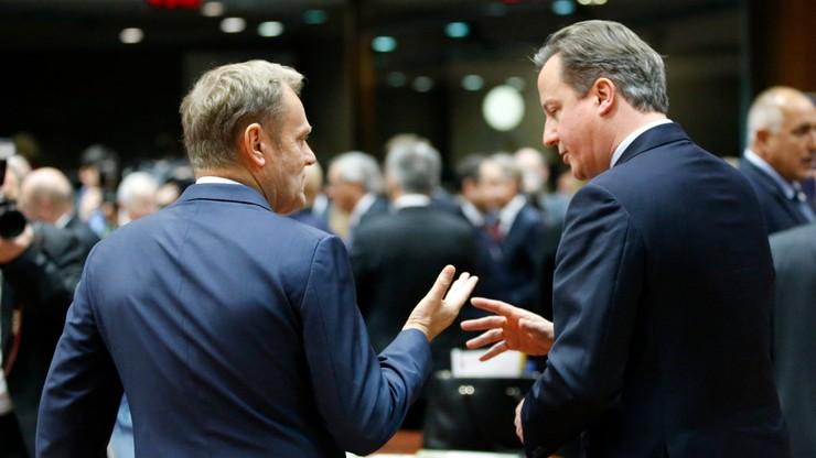 """""""Moment rozstrzygający"""". Tusk i Cameron optymistami po rozmowach o pozostaniu Wielkiej Brytanii w UE"""
