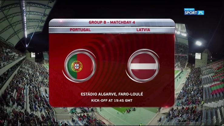 Portugalia - Łotwa 4:1. Skrót meczu