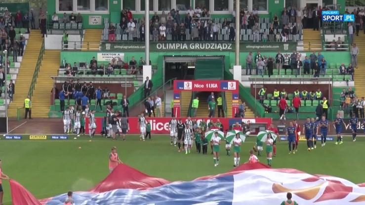 2017-08-29 Olimpia Grudziądz - Stomil Olsztyn 1:1. Skrót meczu