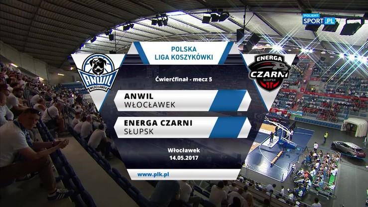 Anwil Włocławek - Energa Czarni Słupsk 62:67. Skrót meczu
