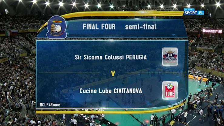Sir Sicoma Colussi Perugia - Cucine Lube Civitanova 3:2. Skrót meczu