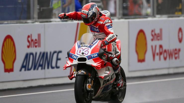 Dovizioso wygrywa mokry wyścig MotoGP w Malezji