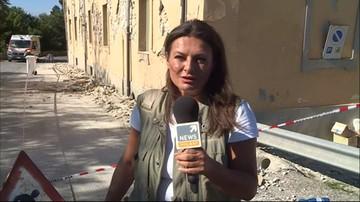 25-08-2016 17:16 Korespondentka Polsat News: wciąż zdarzają się wstrząsy wtórne; są krótkie, ale silne