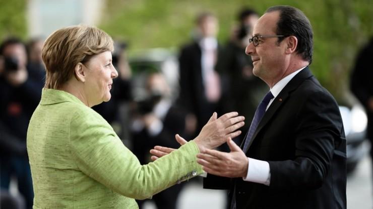 Merkel podjęła Hollande'a pożegnalną kolacją w Berlinie