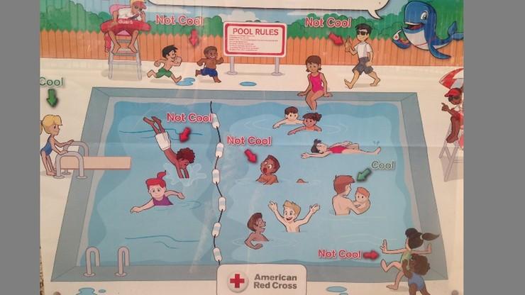 """Niepoprawny plakat Czerwonego Krzyża. Bo na nim """"źle zachowują się tylko kolorowe dzieci"""""""