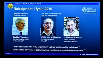 04-10-2016 13:09 Nobel z fizyki za matematykę odmiennych stanów materii