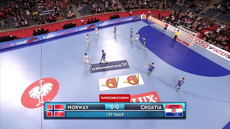 Norwegia - Chorwacja 24:31. Skrót meczu o 3. miejsce