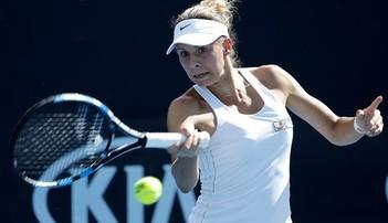 2017-10-12 WTA w Tiencinie: Linette przegrała z Szarapową
