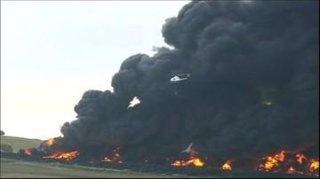 Hiszpania: gigantyczny pożar. Płonie 5 milionów opon