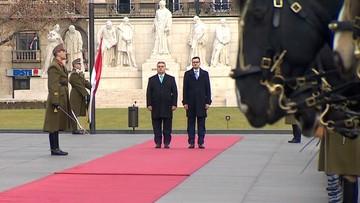 03-01-2018 10:51 Morawiecki na Węgrzech. Rozmowy z Orbanem o przyszłości UE, migracji i praworządności