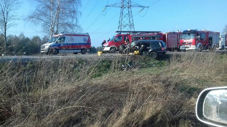 2017-03-28 Wypadek w Gościcinie. Jedna osoba ranna. Zablokowana droga krajowa