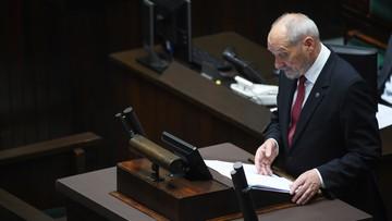 Macierewicz: samorządy generalnie przychylne Wojskom Obrony Terytorialnej