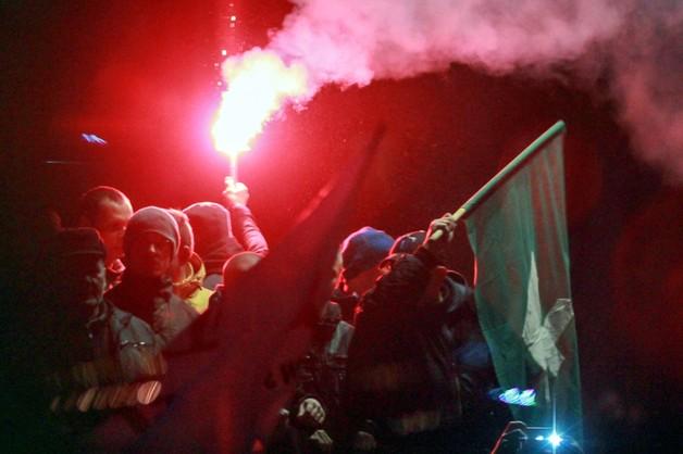 Manifestacja w Zabrzu: 5 rannych policjantów