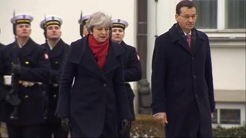 Wizyta premier Theresy May w Polsce. W Belwederze przywitał ją premier Mateusz Morawiecki