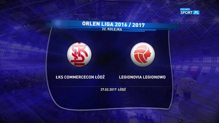 ŁKS Commercecon Łódź - Legionovia Legionowo 3:0. Skrót meczu