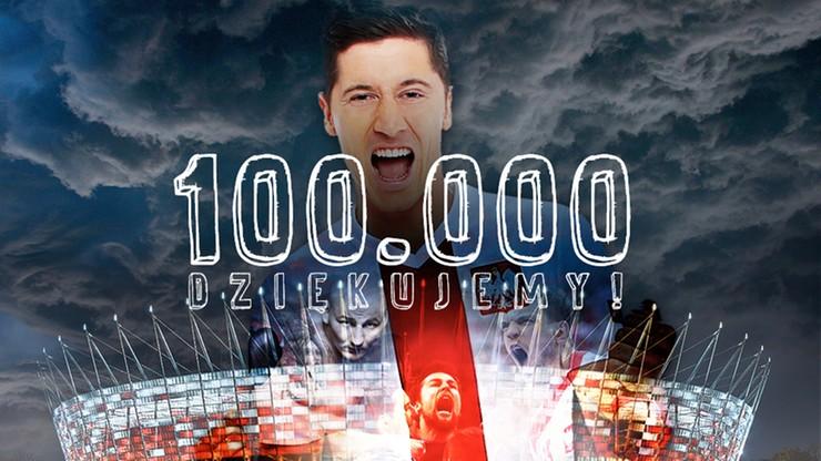 Jest nas już 100 tysięcy! Dziękujemy i prosimy o więcej!