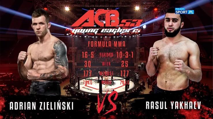 Adrian Zieliński -  Rasul Yakhyaev. Skrót walki