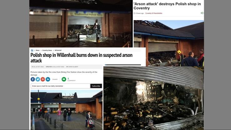 W Anglii spłonął polski sklep. Policja sprawdza, czy to był atak na tle narodowościowym