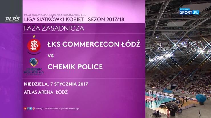 ŁKS Commercecon Łódź – Chemik Police 2:3. Skrót meczu