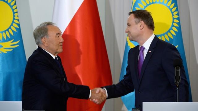 Prezydent Kazachstanu u Andrzeja Dudy - rozmawiali o gospodarce
