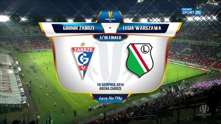 2016-08-10 Górnik Zabrze - Legia Warszawa 3:2. Skrót meczu