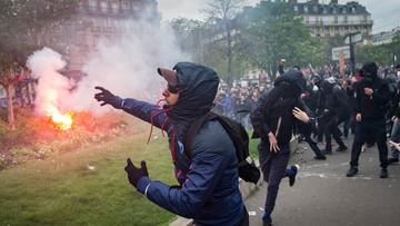 09-04-2016 20:37 Francja: starcia policji z protestującymi przeciwko reformie prawa pracy