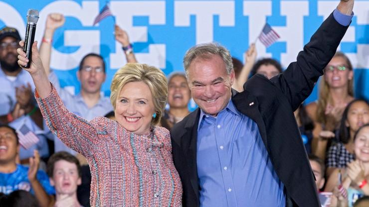 Hillary Clinton: Senator Kaine kandydatem na wiceprezydenta