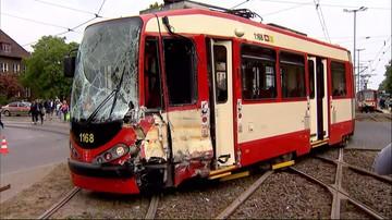 30-05-2017 12:05 Zderzenie tramwajów w Gdańsku. Jedenaście osób poszkodowanych