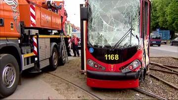 Zderzenie tramwajów w Gdańsku. Osiem osób poszkodowanych