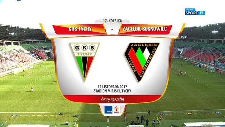 GKS Tychy - Zagłębie Sosnowiec 1:1. Skrót meczu