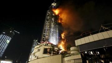 31-12-2015 21:02 Ogromny pożar hotelu w centrum Dubaju