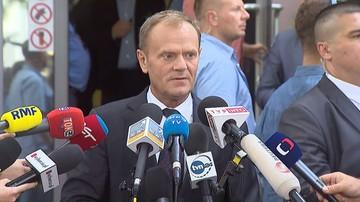 """03-08-2017 18:24 """"Kaczyński mnie nie przestraszy"""". Donald Tusk po przesłuchaniu w prokuraturze"""
