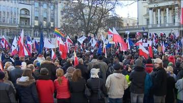 Manifestacje KOD w sprawie zmian w mediach publicznych
